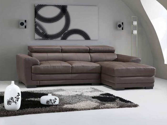133 Leather Sectional Sofa Leather Sectionals Living
