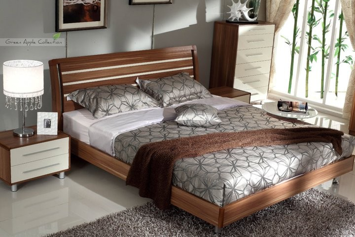 50 Off May Eastern King Walnut Bed With 2 Nightstands Clearance Star Modern Furniture