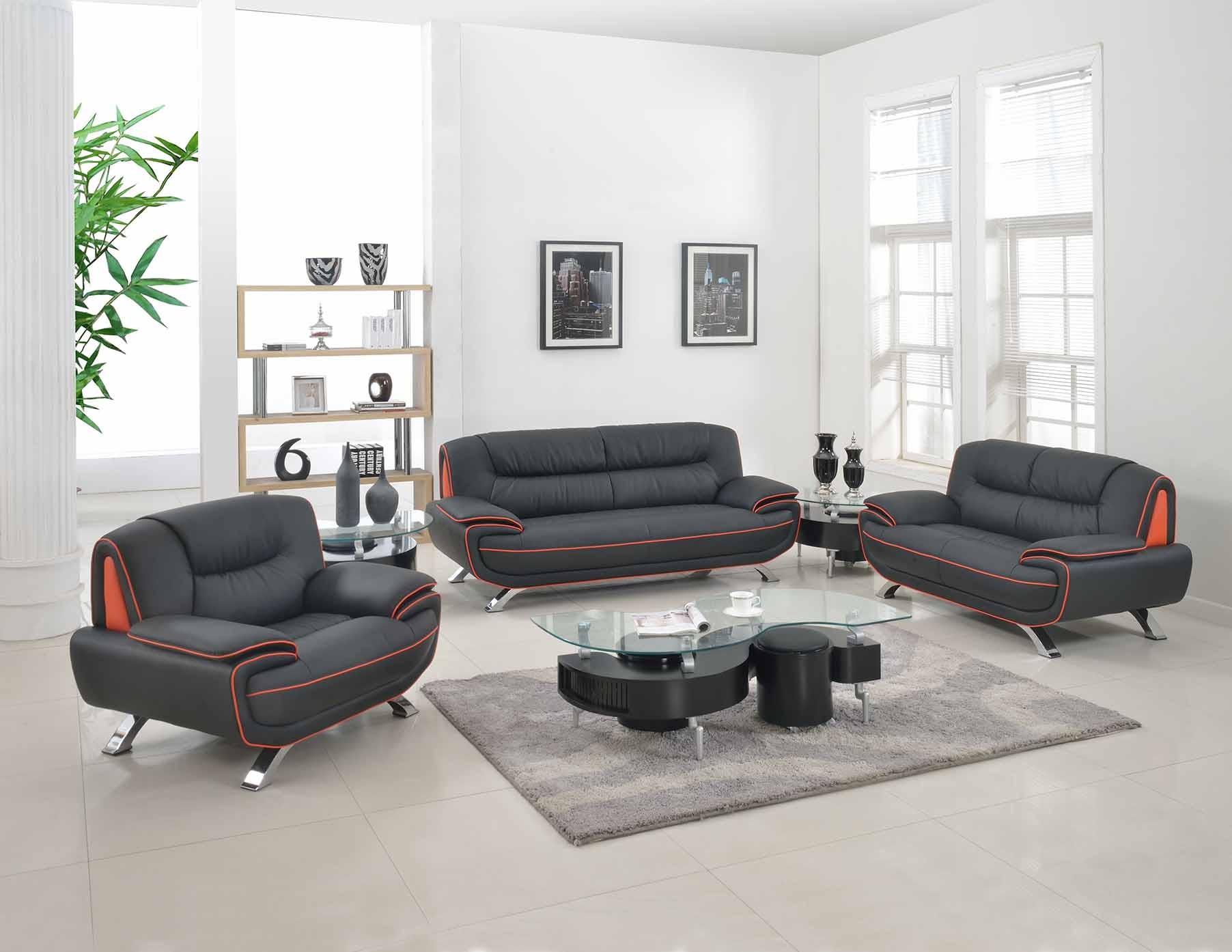 504 Modern Italian Leather Sofa Set Grey - Leather Sofa ...