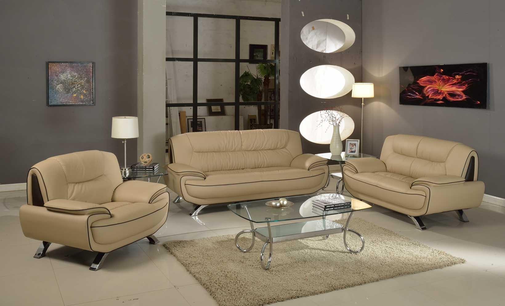 504 Modern Italian Leather Sofa Set Black - Leather Sofa ...