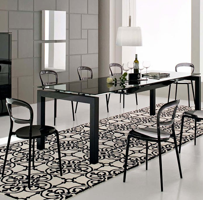Calligaris cs 4011 airport extendable table star modern for Airport one calligaris