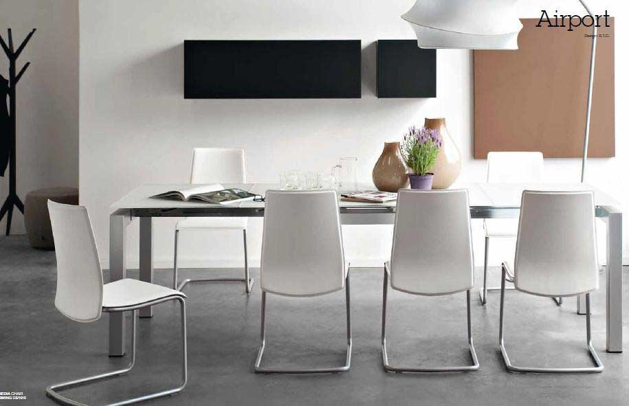 Calligaris cs 4011 airport extendable table modern for Calligaris airport