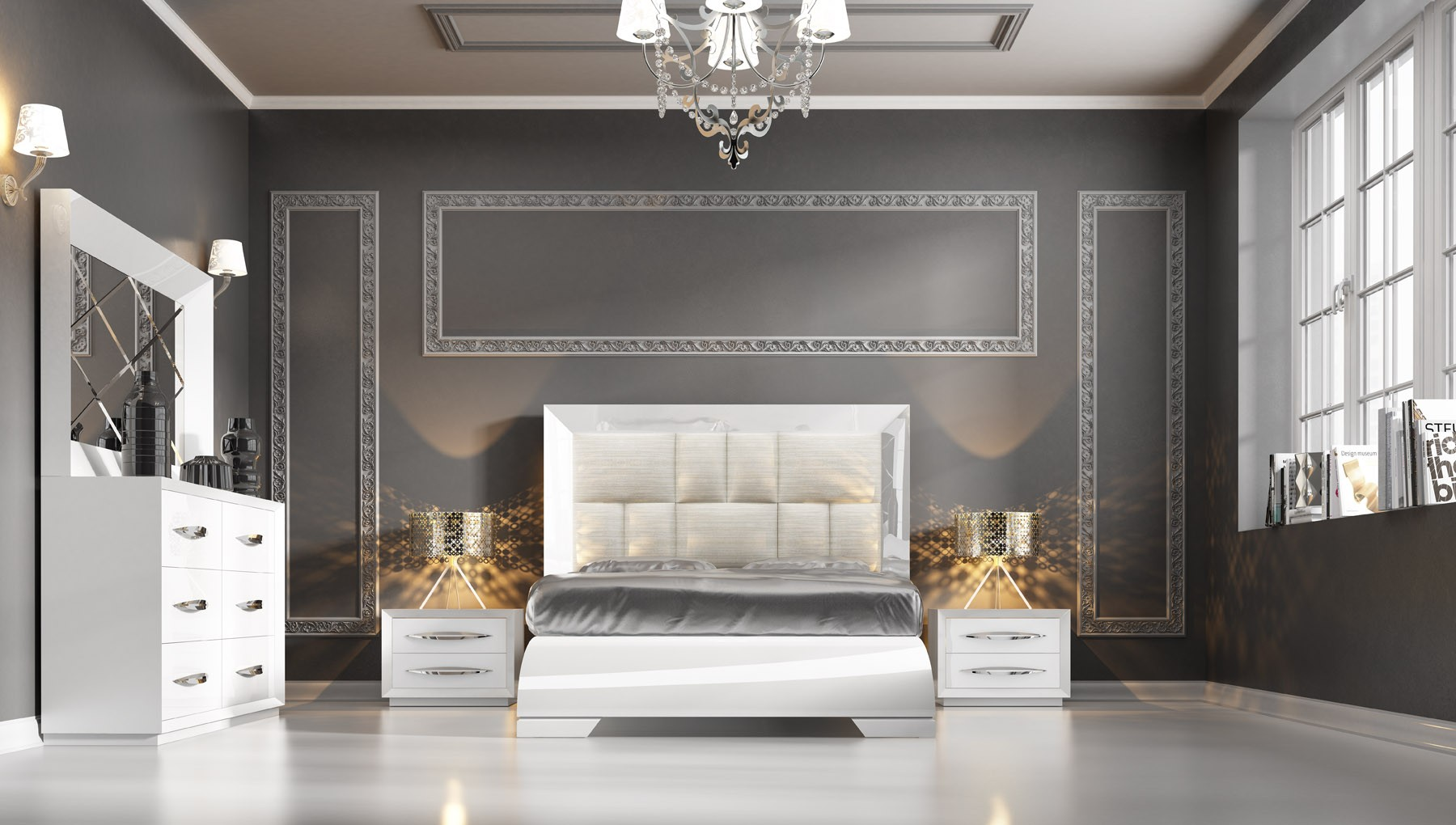 Carmen White Modern Italian Bedroom Set N Star Modern