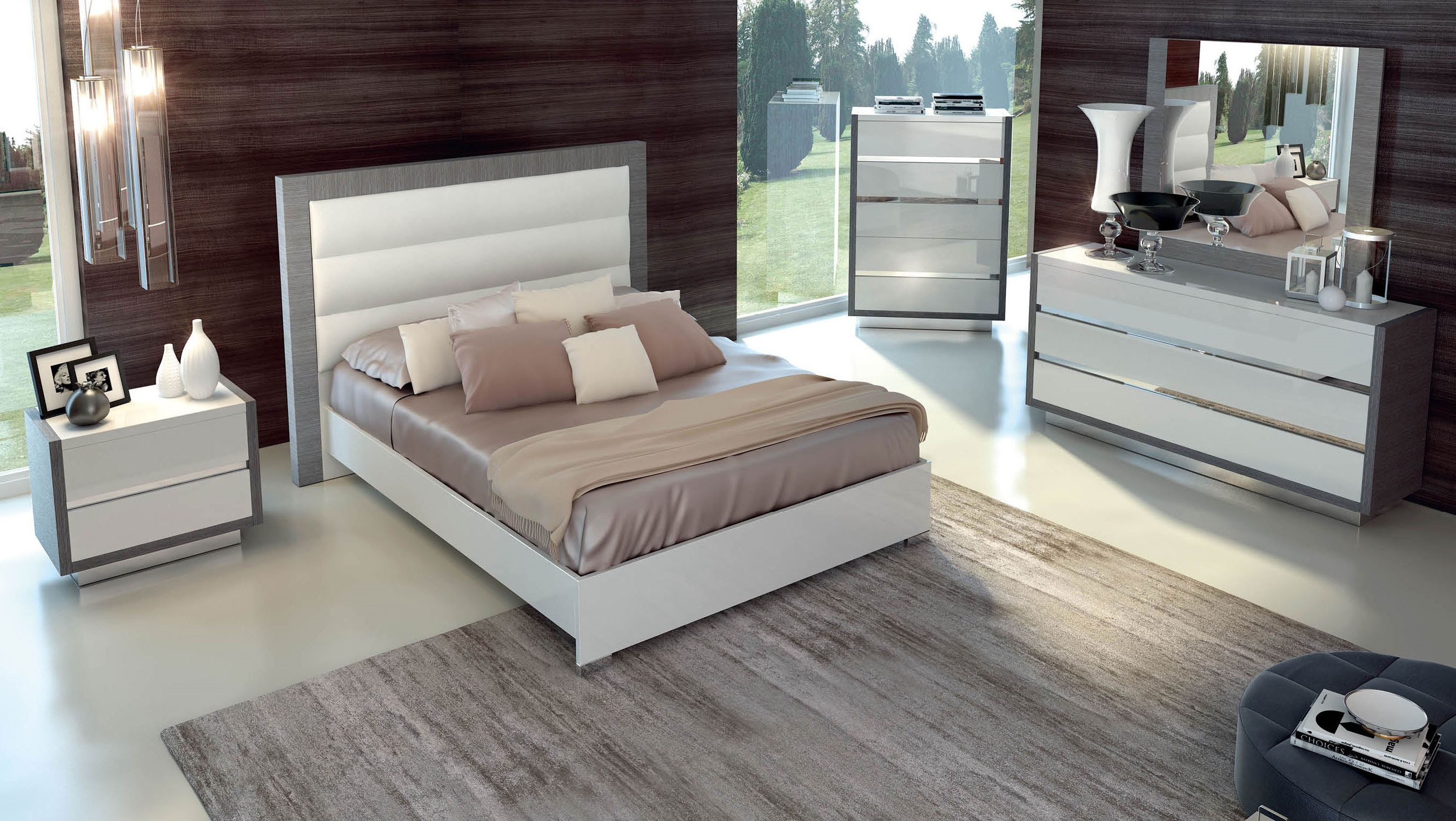 Magno Modern Italian Bedroom Set N Modern Bedroom