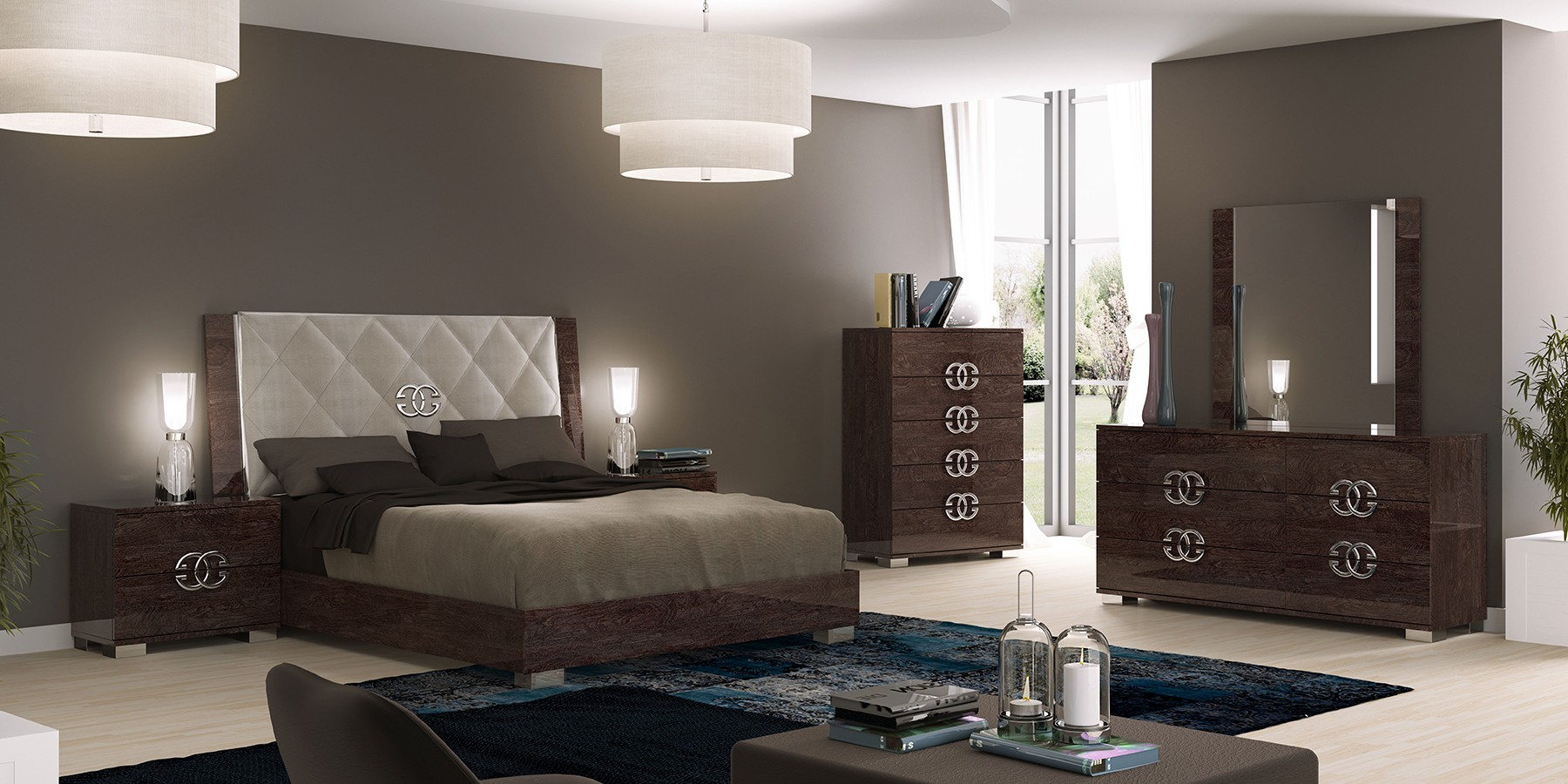 outstanding modern contemporary bedroom furniture | Pride Delux Modern Italian Bedroom set - N - Modern ...