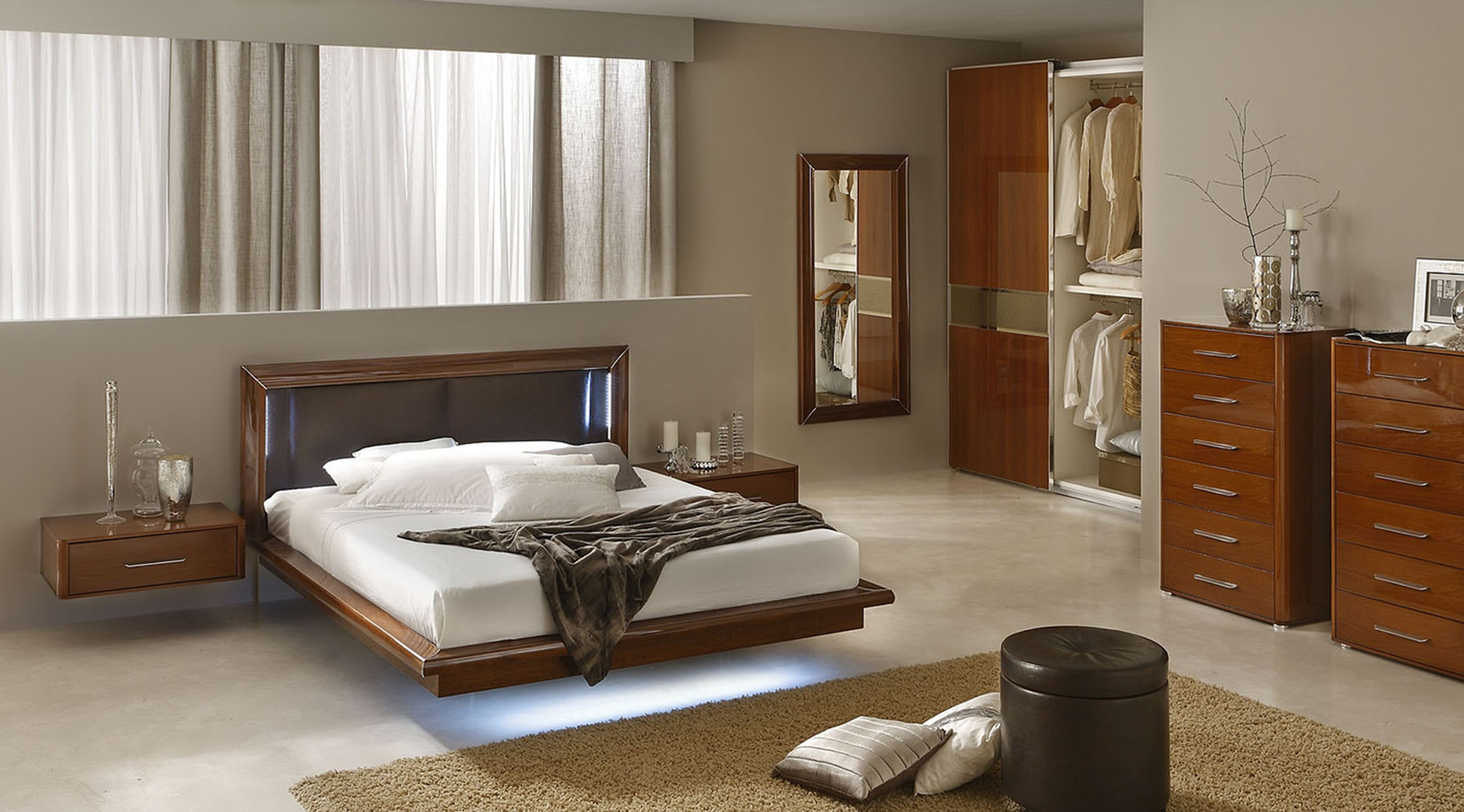 Sky modern italian bedroom set n contemporary for Italian bedroom furniture