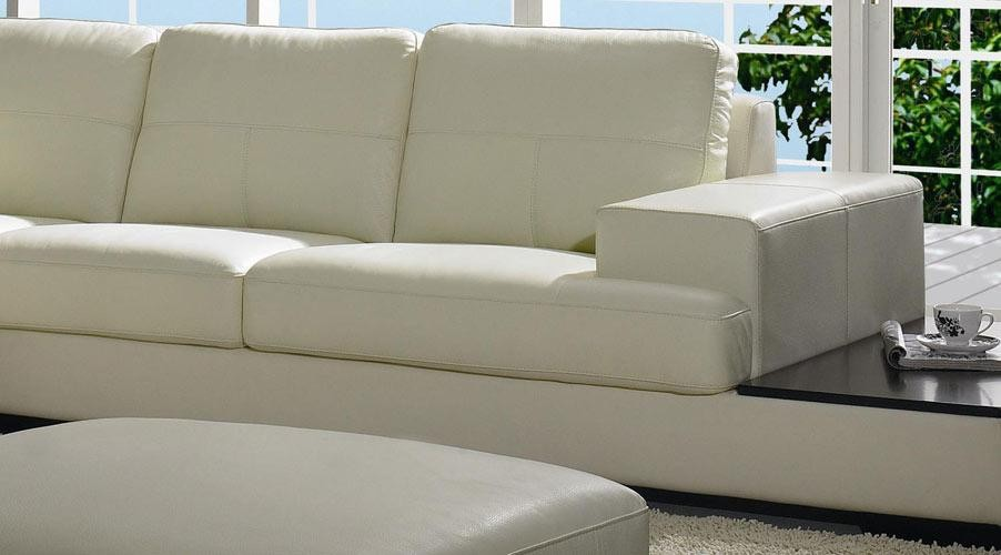 Bo 3983 Contemporary Low Profile Leather Sectional Sofa