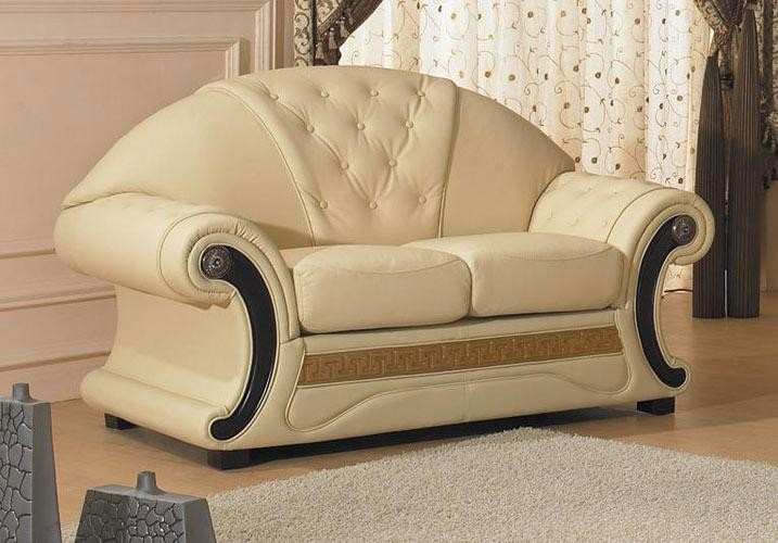 Cleopatra traditional leather sofa set classic leather for Traditional leather furniture