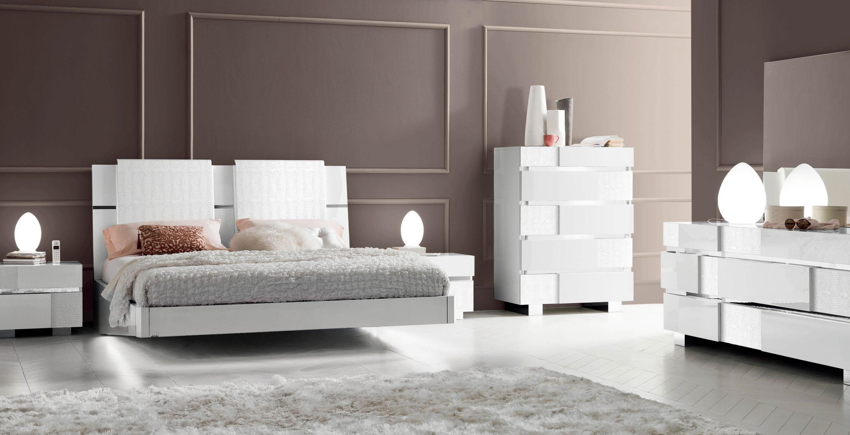 Caprice white modern italian bedroom set n star modern for M s bedroom furniture