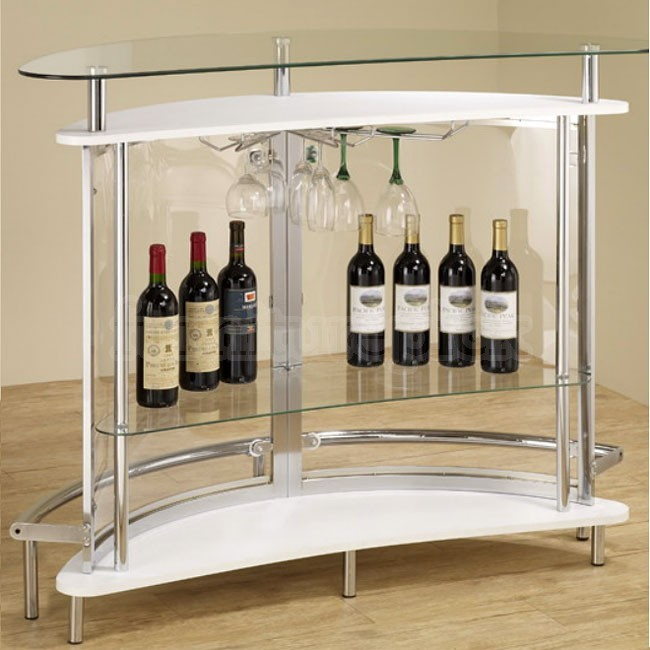 Contemporary Extra Strong Glass Bar Unit Co 101066 Bar