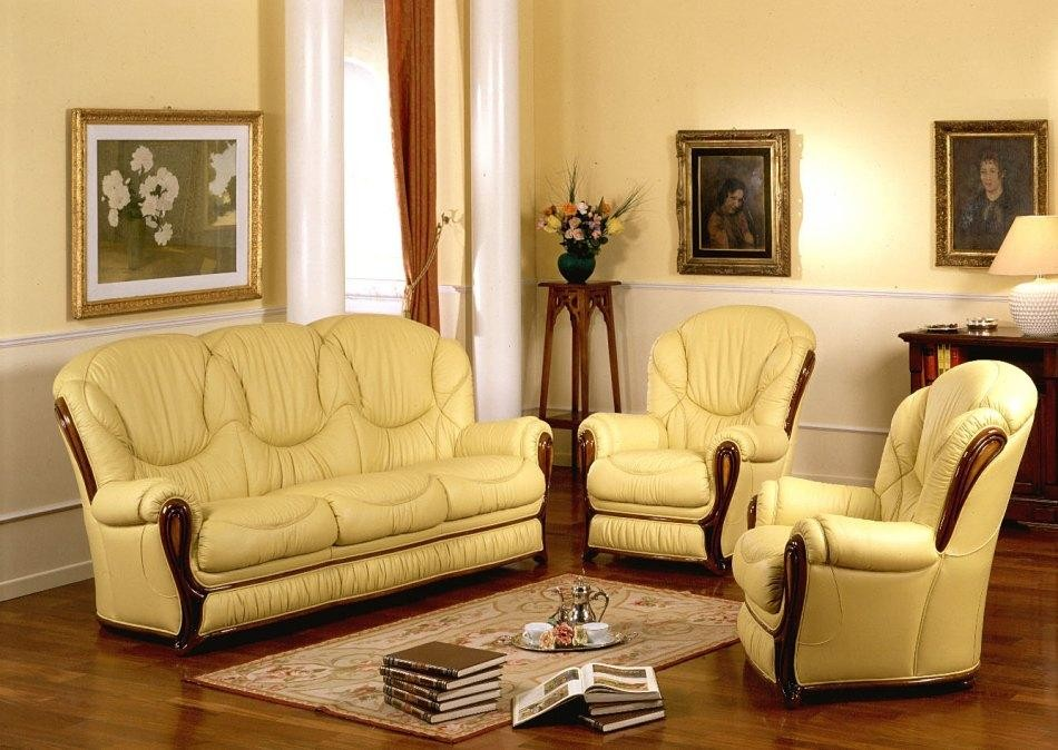 Daniela Made In Italy Classic Sofa Set Classic Leather