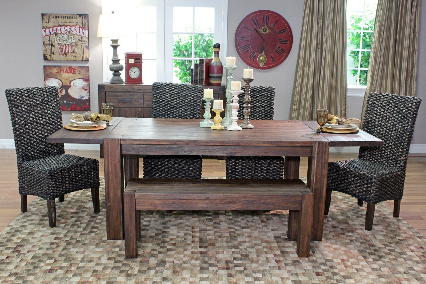 100 Modus Meadow Solid Wood Extending Rustic Wood  : diningrustic11 from louboutinlure.com size 1400 x 933 jpeg 412kB