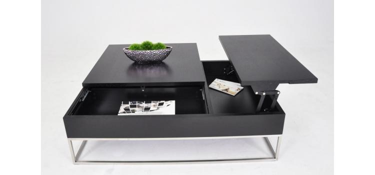 A902p Modern White Coffee Table With Pull Out Tray And Storage Ge Coffee End Tables Star