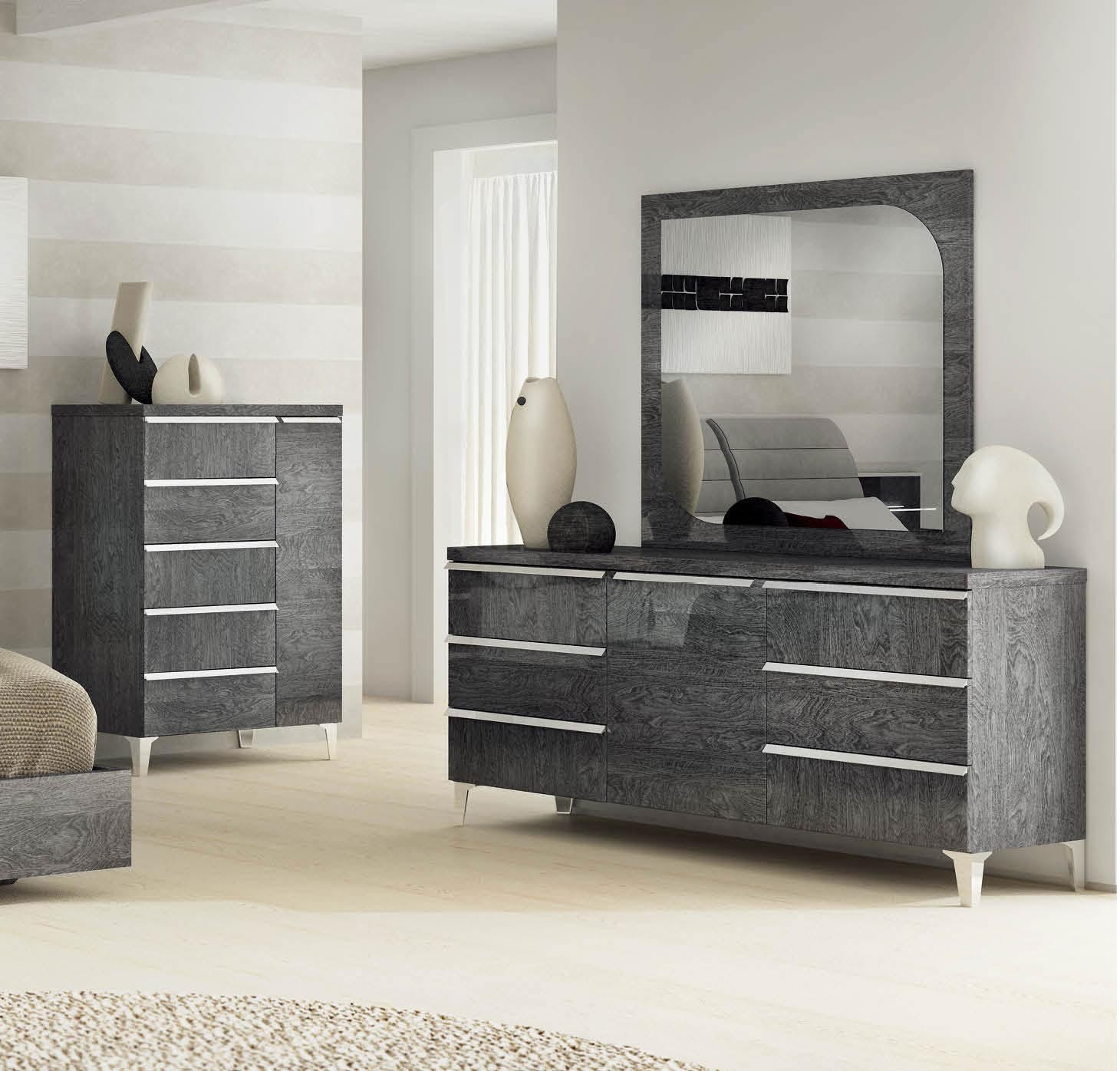 Elite Modern Italian Bedroom Set N Modern Bedroom