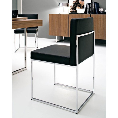 Modern Black Leather Office Chair