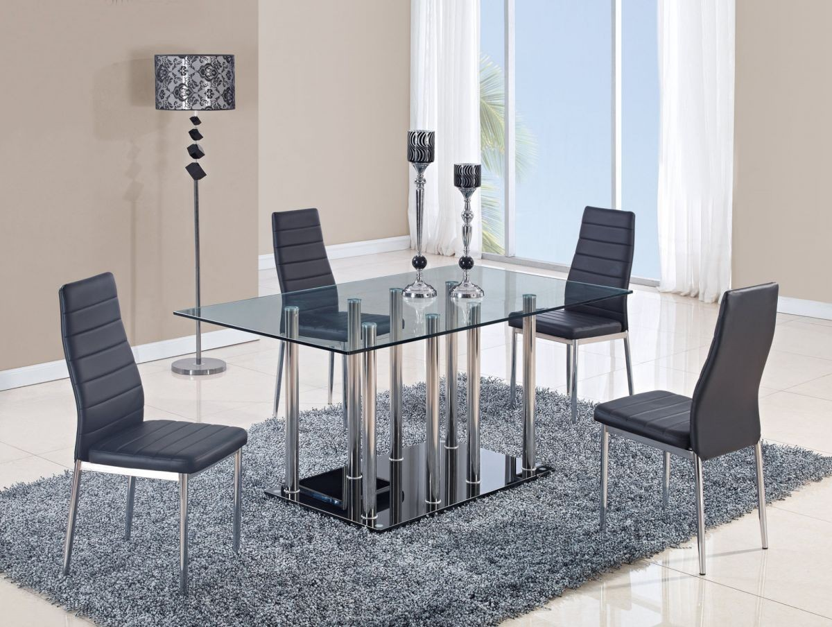 Rectangular Glass Table Set