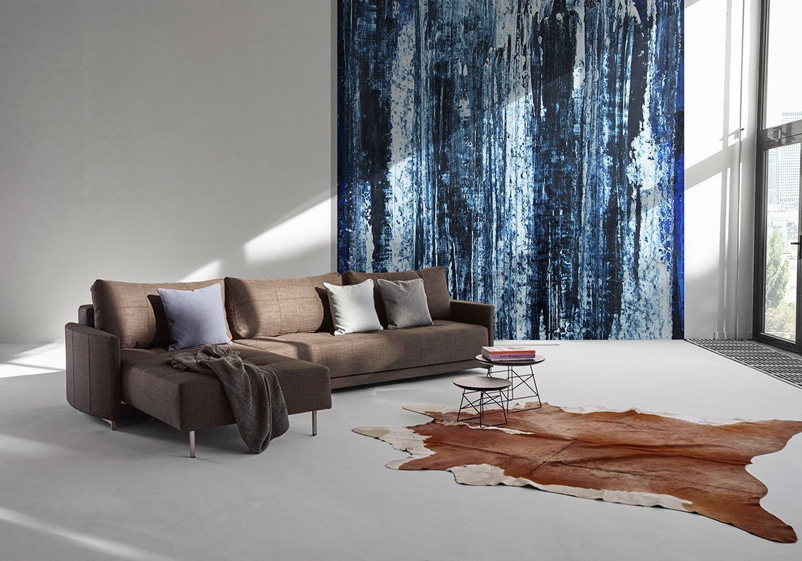 Crescent D E L Sectional Sofa Bed by Innovation Star