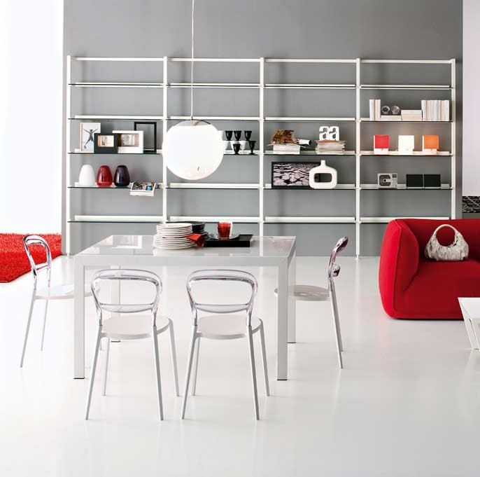 Key dining table calligaris star modern furniture for Calligaris key table