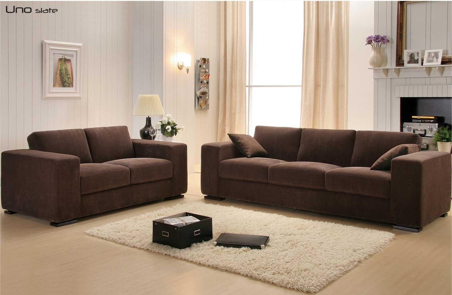 Slate brown corduroy sofa bed sofa beds star modern for Brown corduroy couch