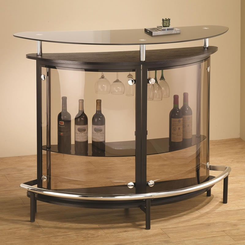 Contemporary Extra Strong Glass Bar Unit Co 101066 Star Modern Furniture