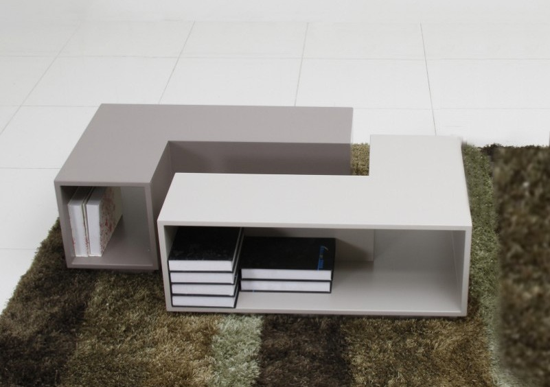 Puzzle Modern Two Tone Dining Table Modern Dining