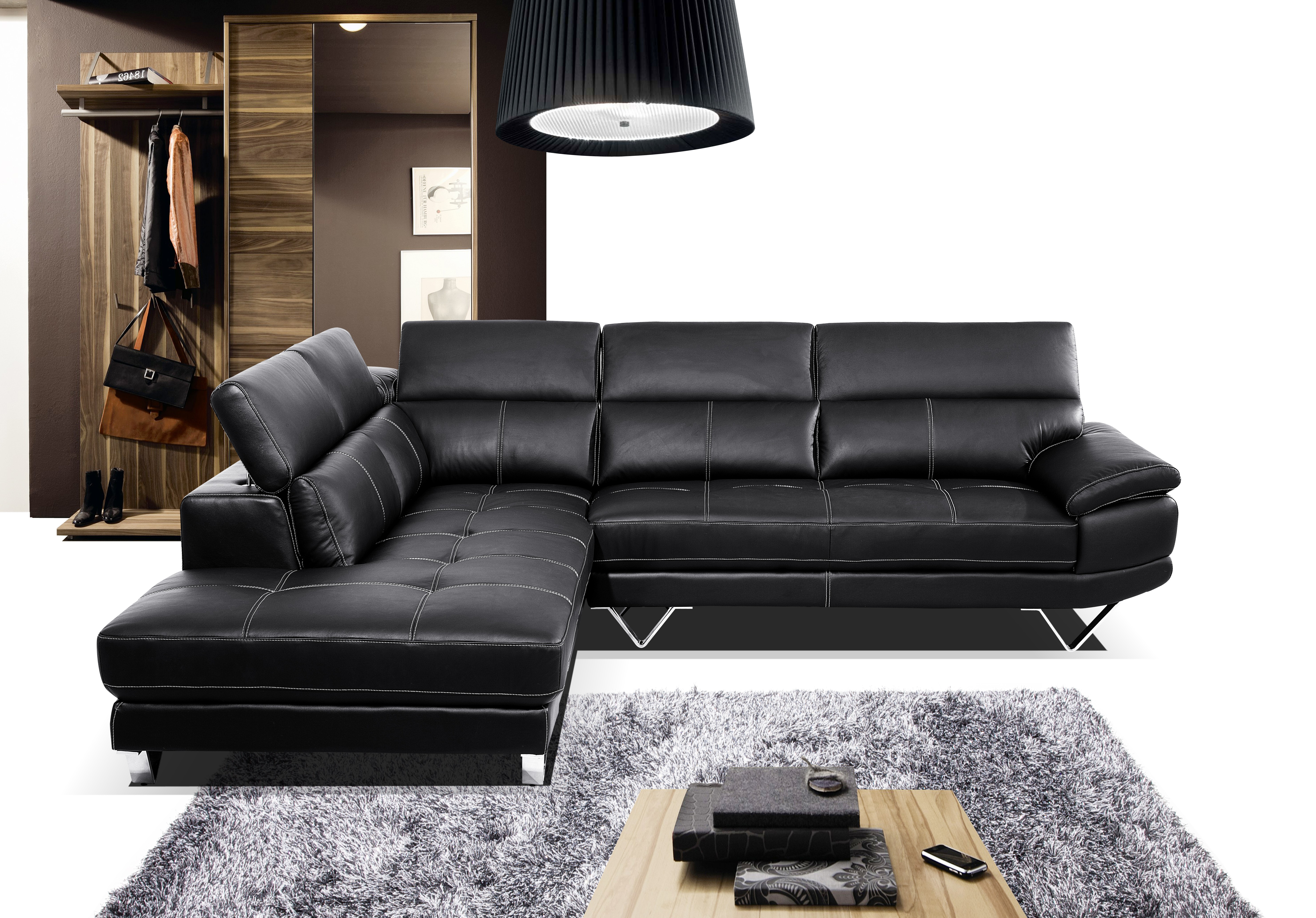 Bonded Leather Sectional B 7098 Leather Sectionals