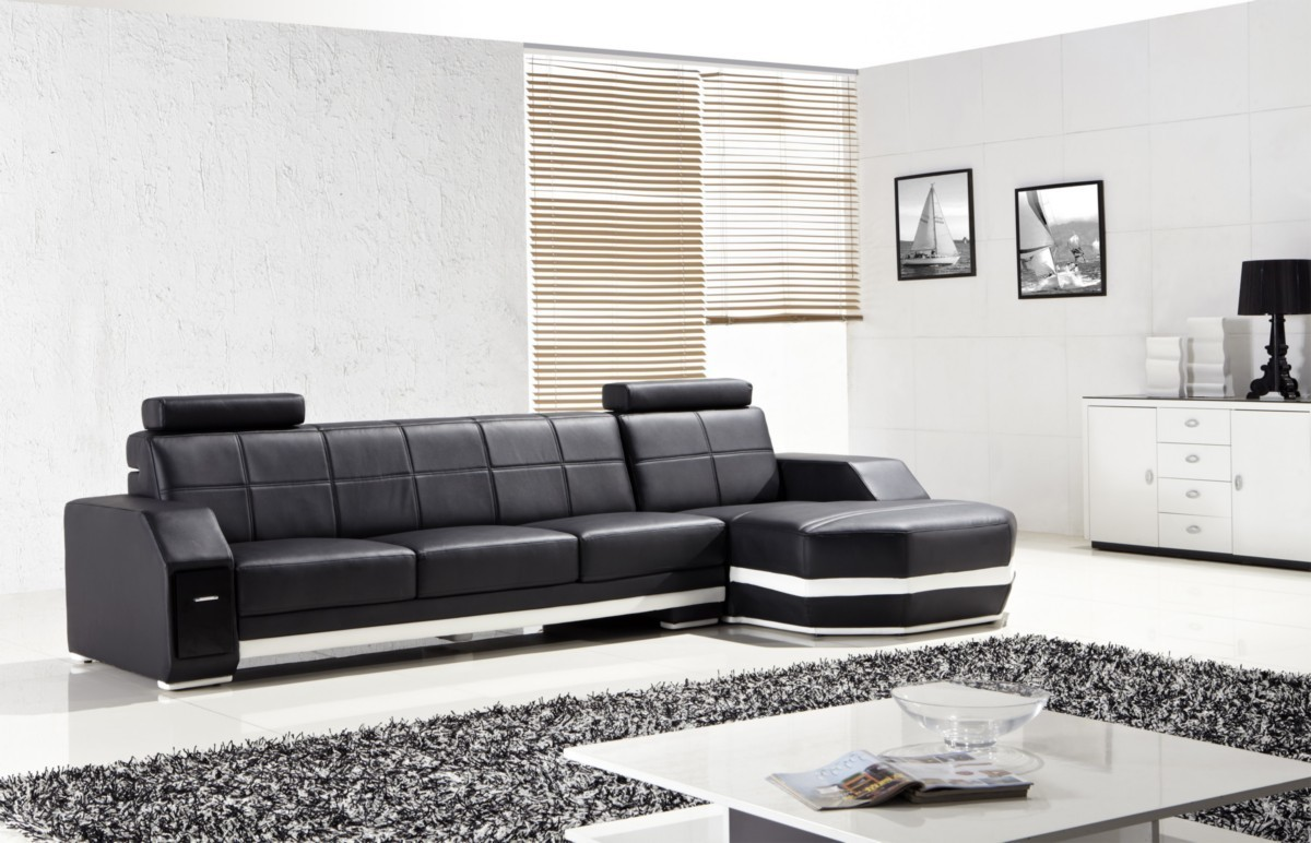 T305 modern leather sectional sofa star modern furniture for Sectional sofa star furniture