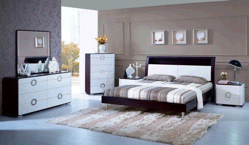 two tone modern style bed 00418 - modern - bedroom star modern