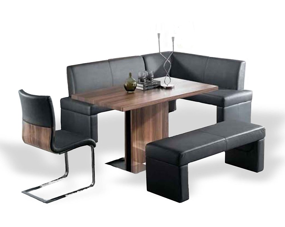 Poland Corner Dining Set Walnut Color An Modern Dining