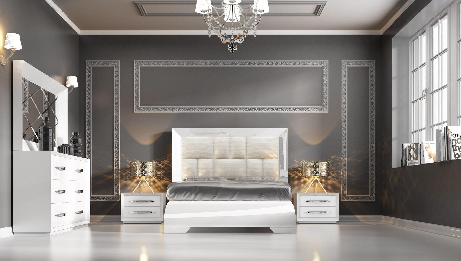 Carmen White Modern Italian Bedroom set - N Star Modern ...