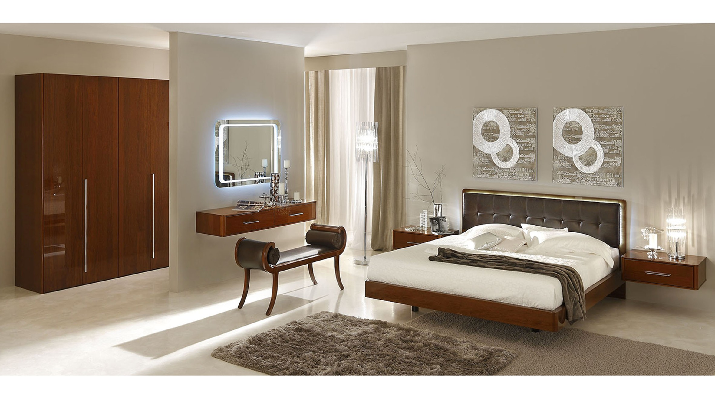 Sky Modern Italian Bedroom set - N Star Modern Furniture