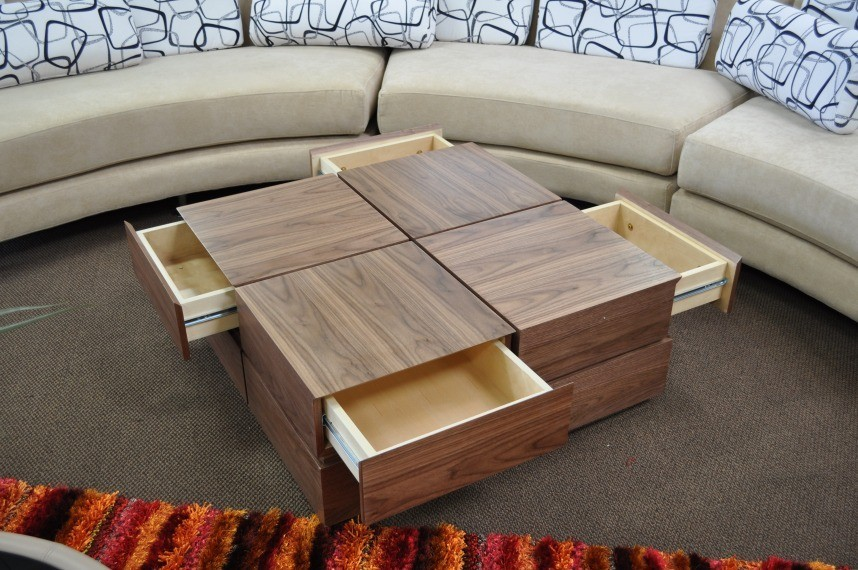 Terra Modern Coffee Table With Drawers - Coffee & End ...