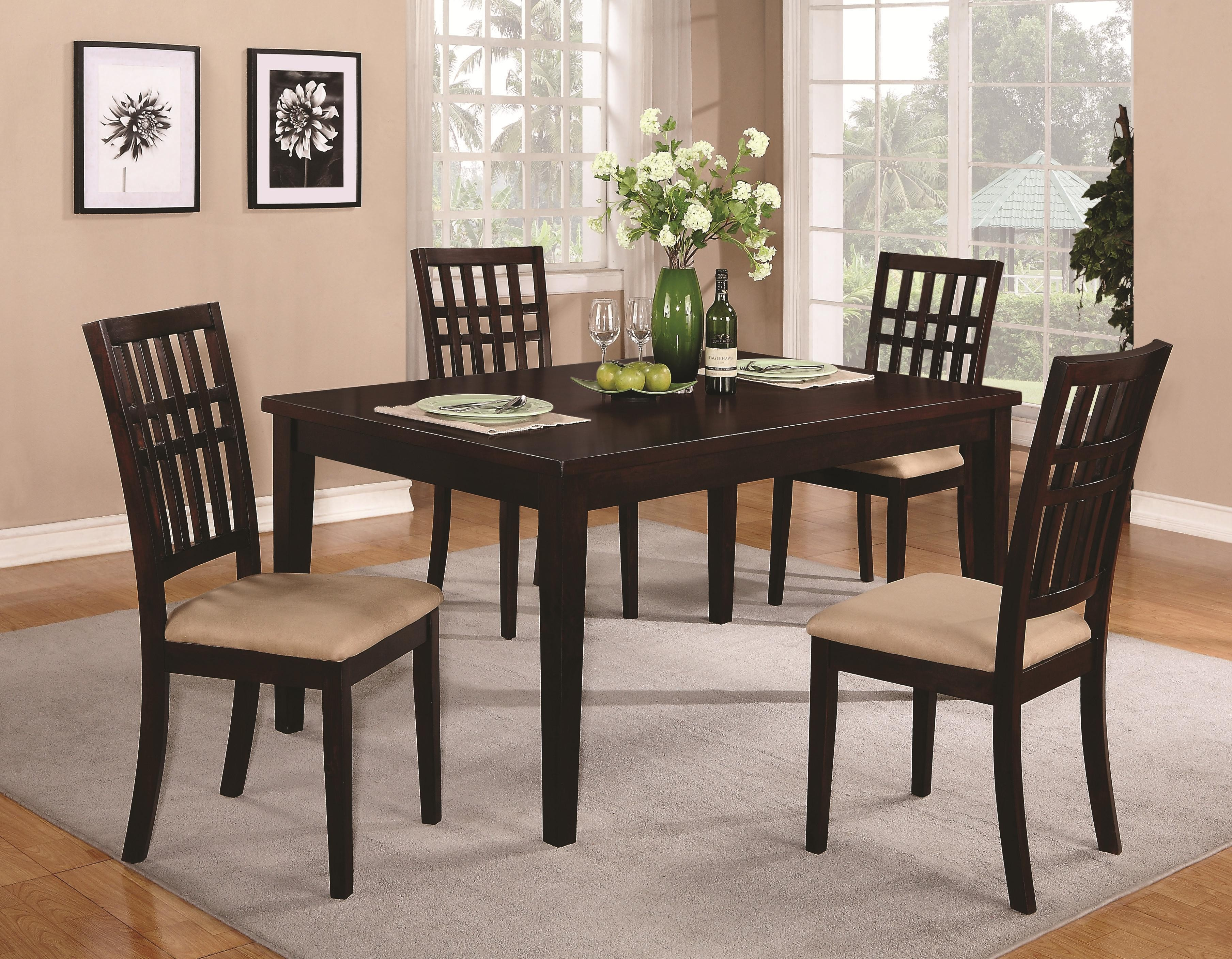 dining room table and chair sets casual dining table co 103341 contemporary dining dining room star modern furniture 1468